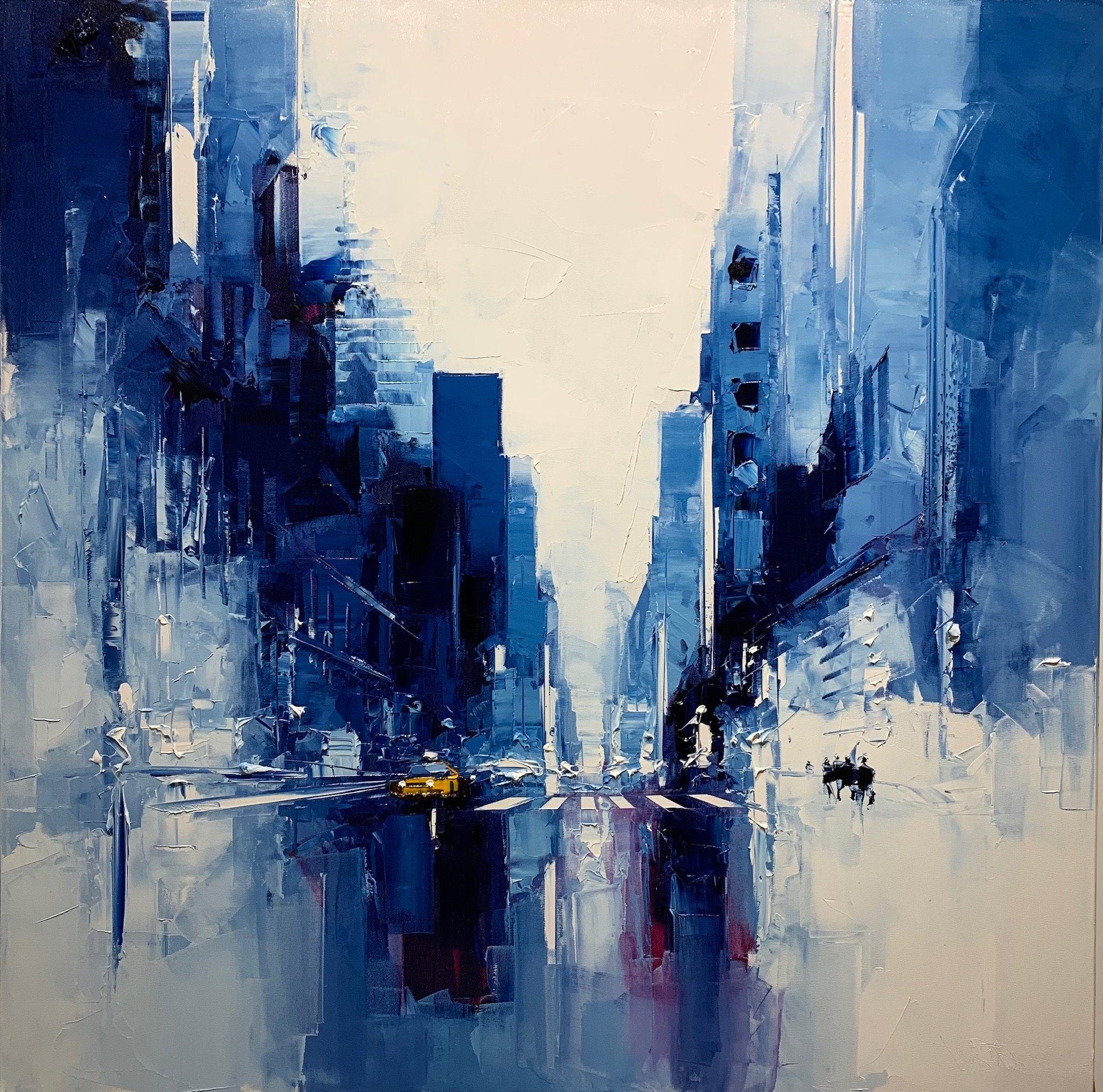 Blue taxi 100 x 100
