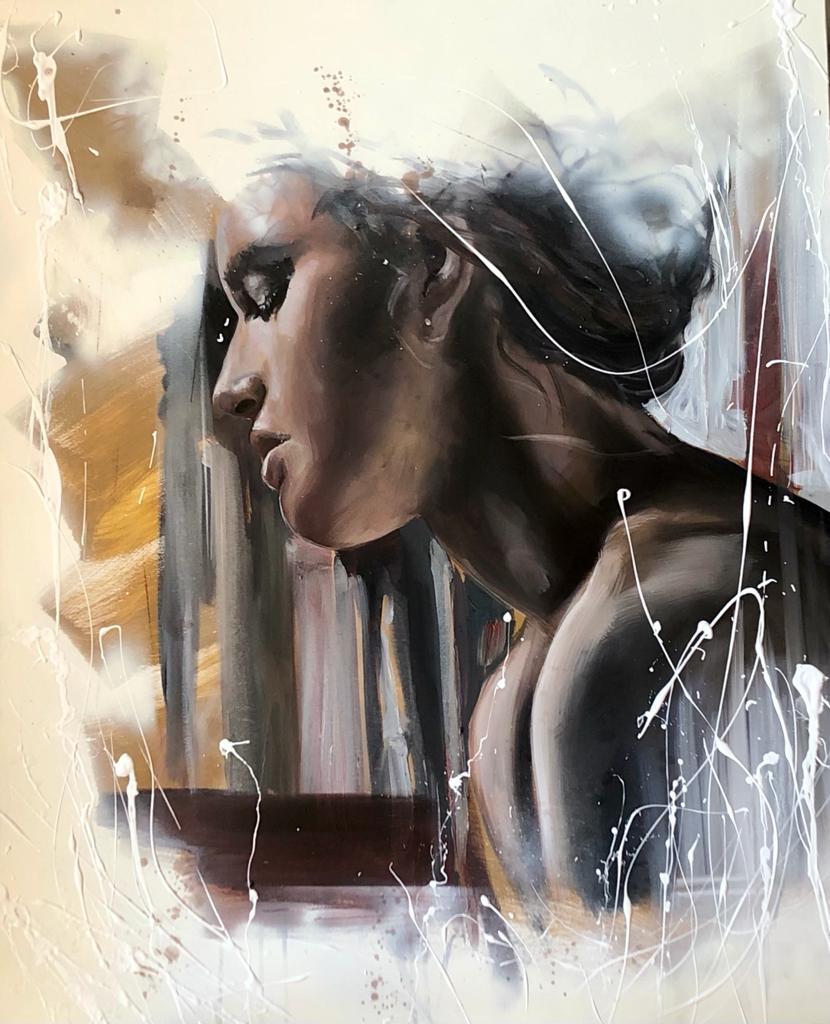 Songe d'até 100 x 81 Huile sur toile de Cécile Desserle