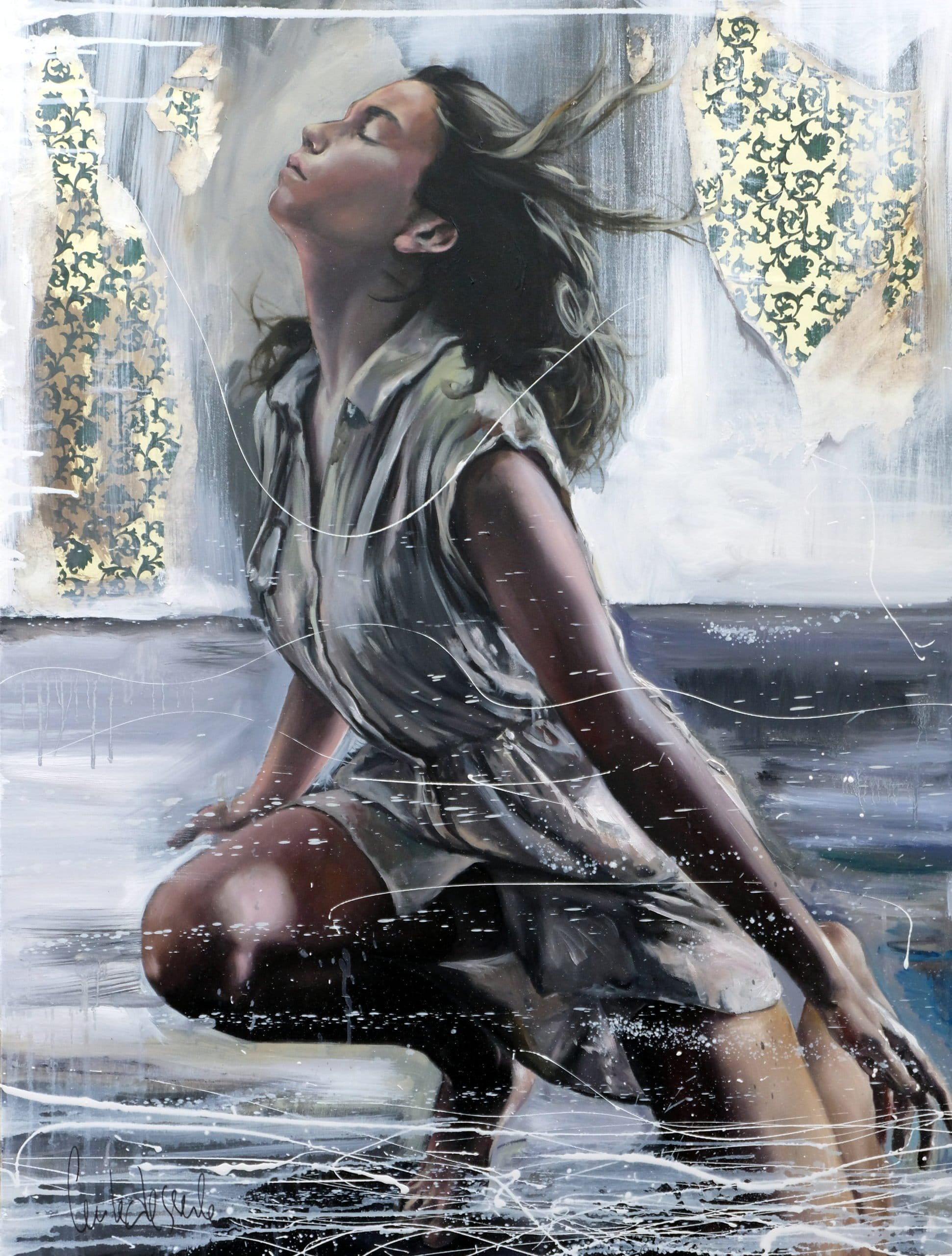 Against the wind 116 x 89 cm