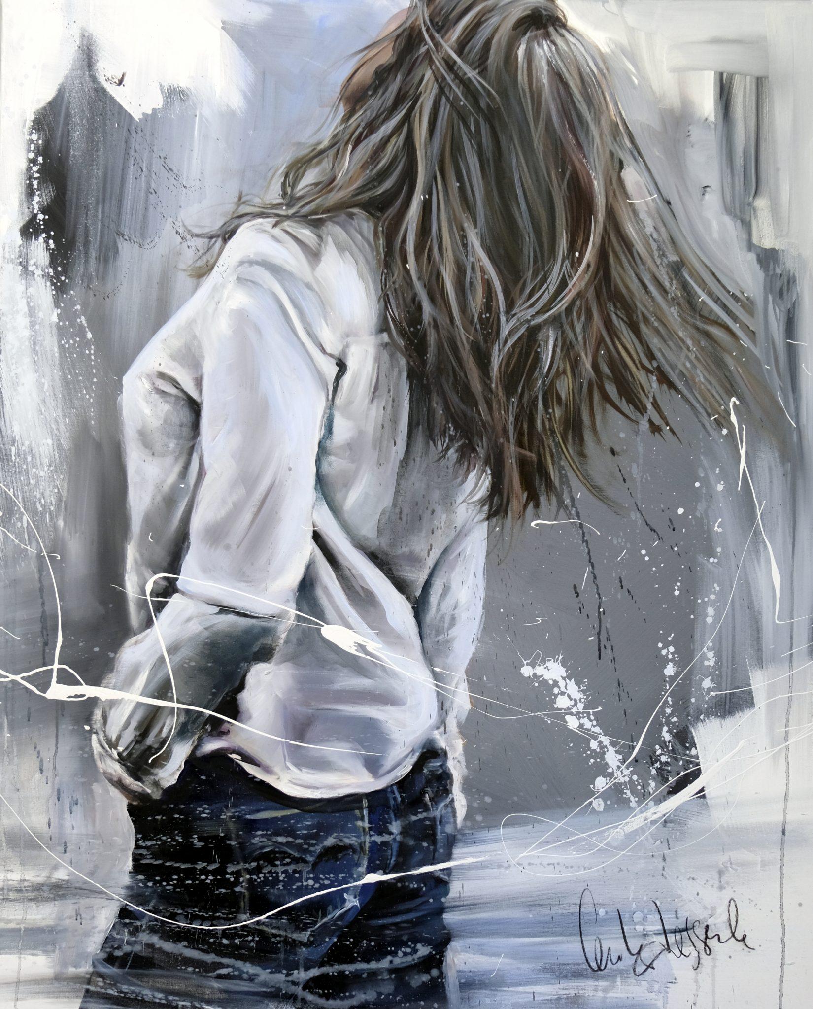 Balade 81 x 100 cm Huile sur toile Cécile Desserle
