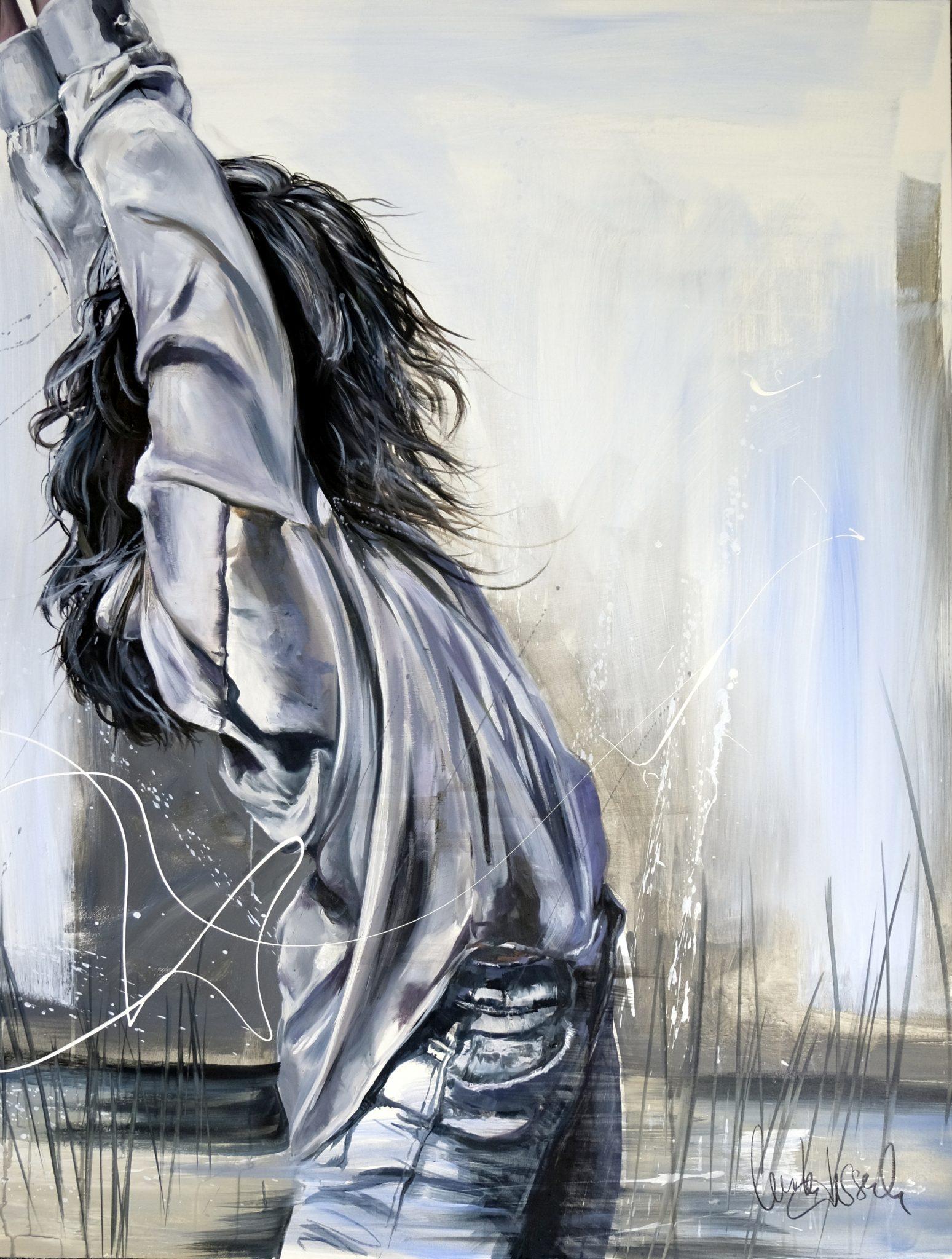 Une envie de liberté 116 x 89 cm Huile sur toile Cécile Desserle
