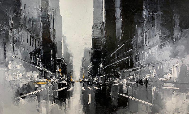 White and black NY - 114 x 195