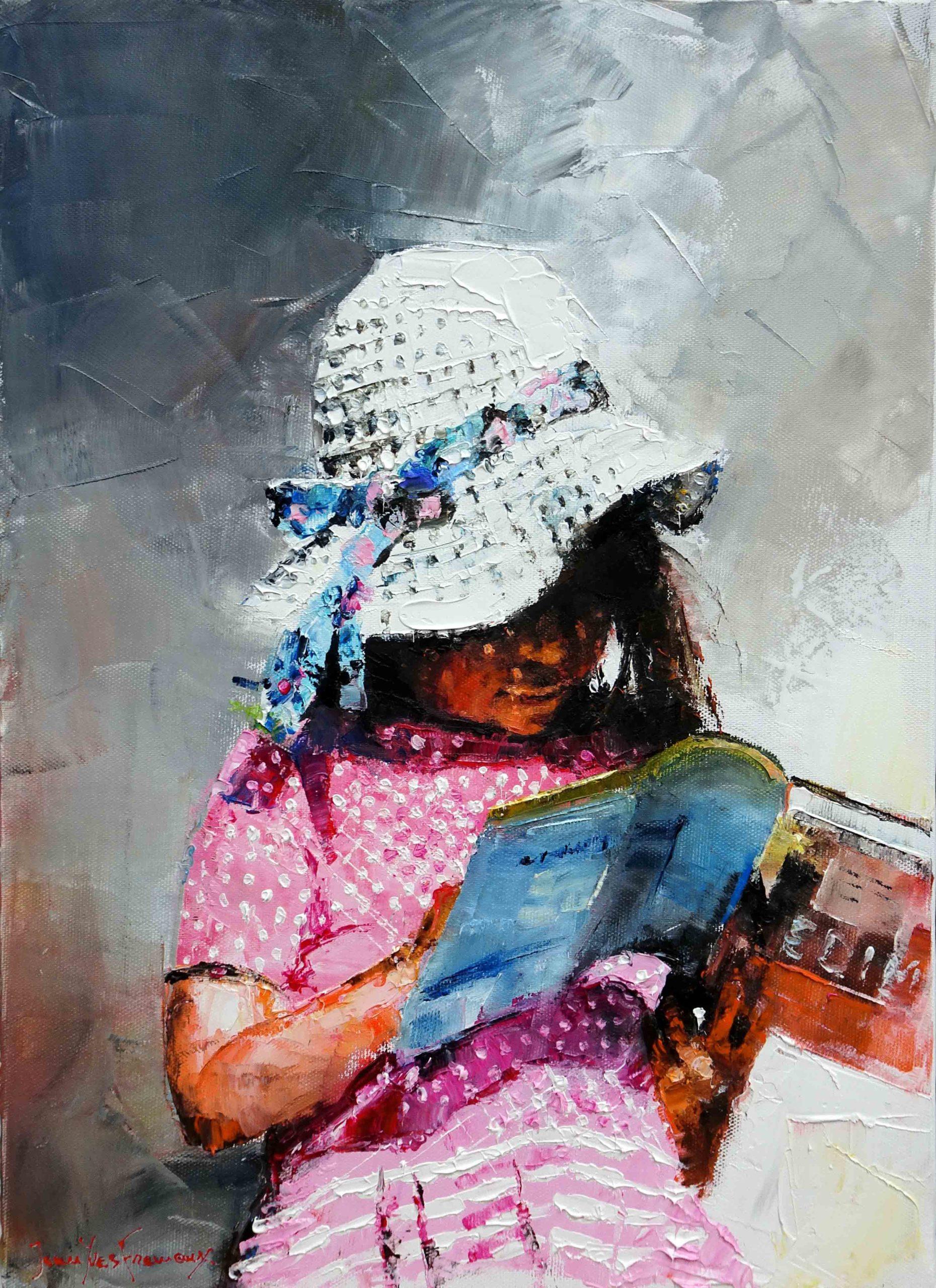 Le chapeau et le livre 8P