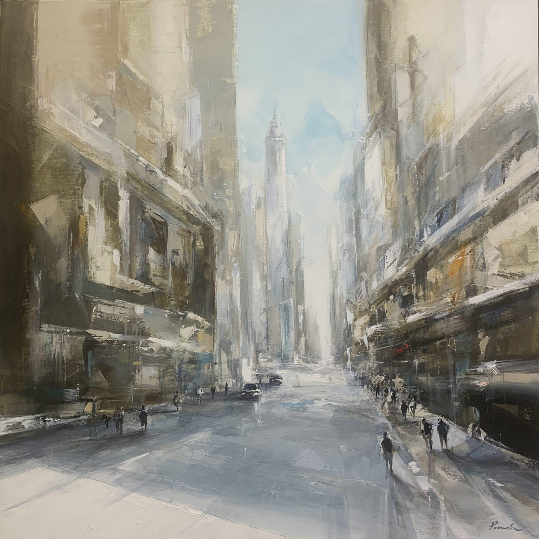 NY Abstraction 80 x 80